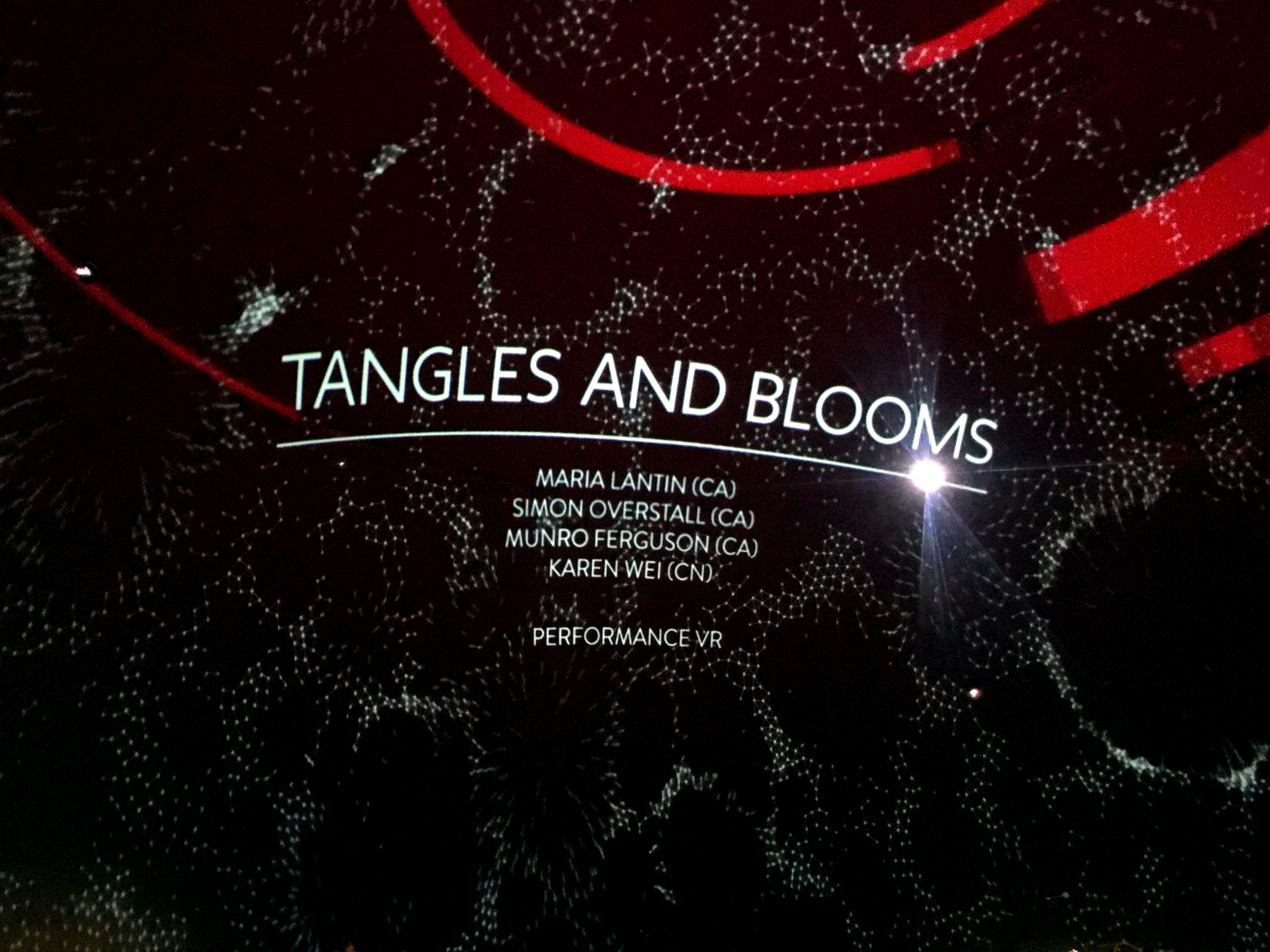 Title screen for Tangles and Blooms